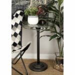 industrial inch black movie reel accent table studio umbrella free shipping today ikea garden furniture metal and glass patio nautical bedroom decor linen mats small with folding 150x150