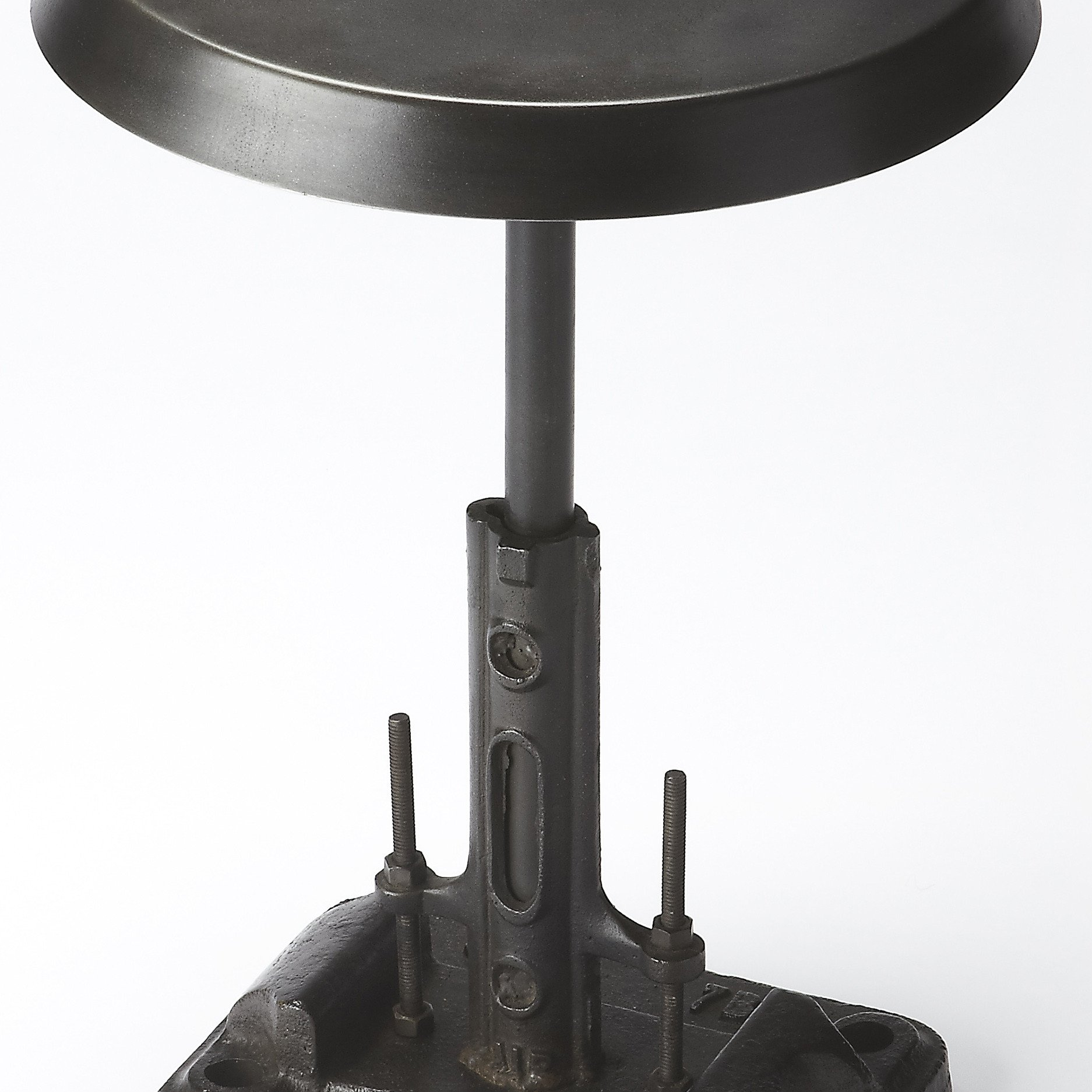 industrial modern black iron accent side table woodwaves small gray coffee bassett tables ralph lauren tablecloth inch bedside pier credit card console furniture red round plastic