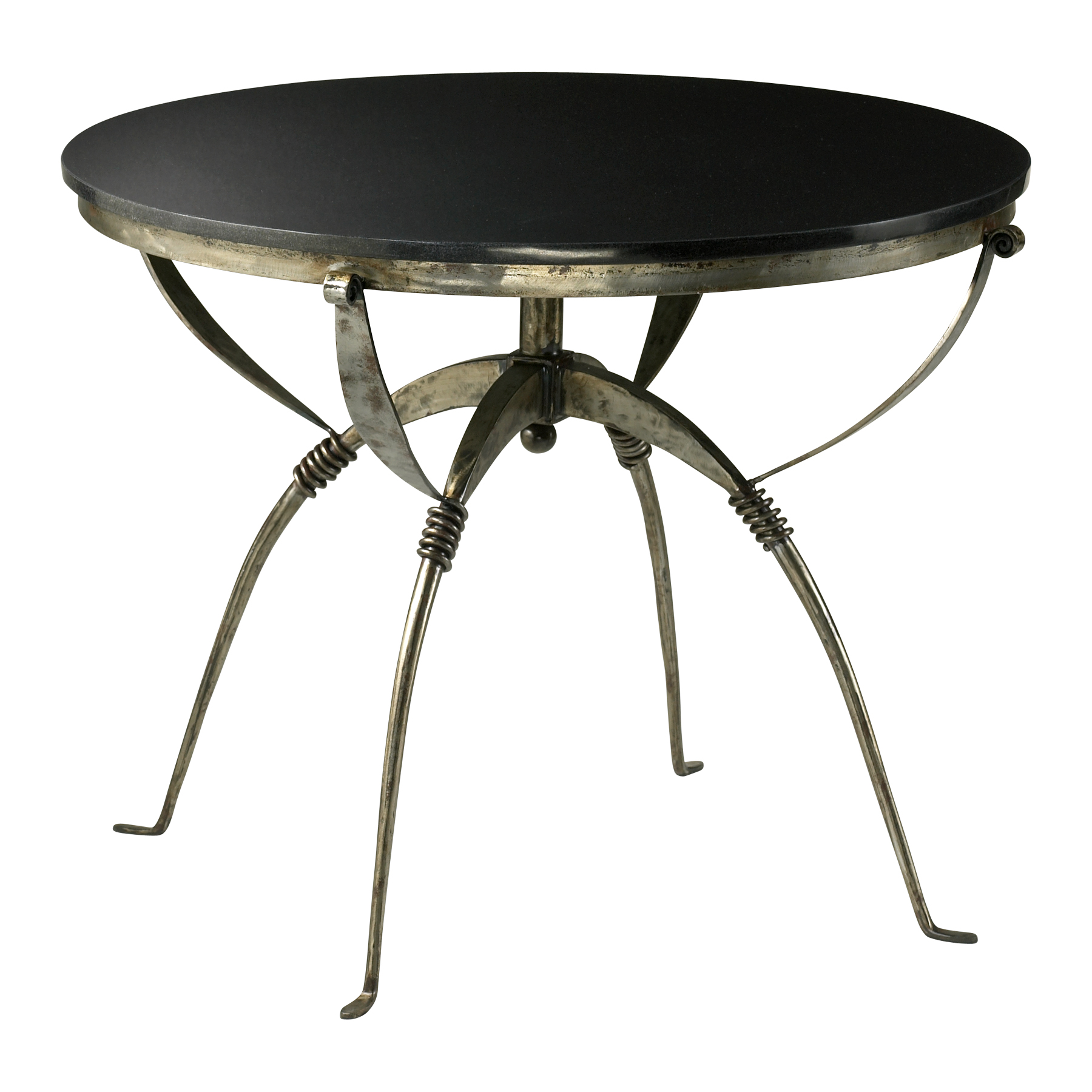 industrial style iron granite round accent table large deck pottery barn bar pewter side owings console shelf espresso outdoor recliner coffee with storage end design plans chest