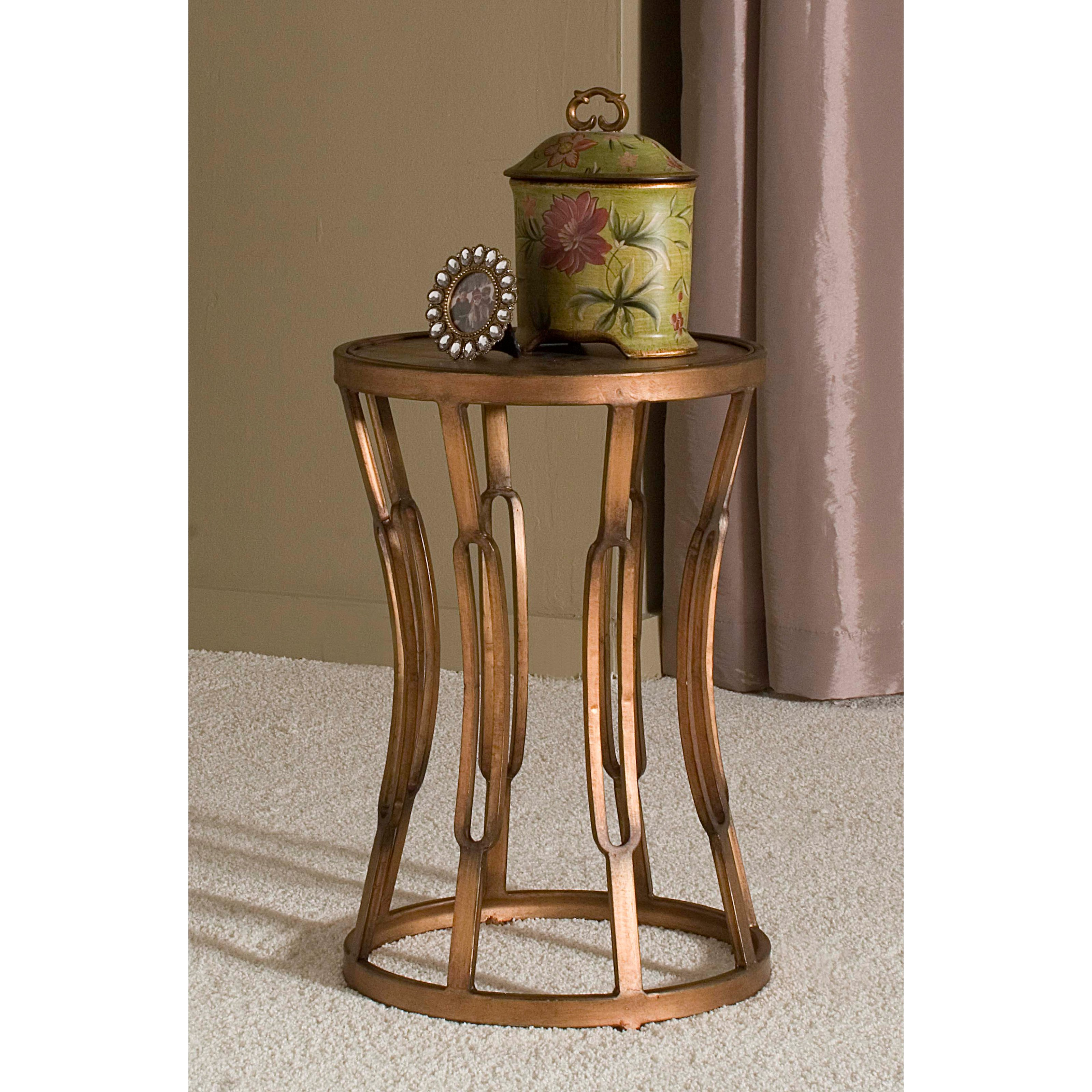innerspace hourglass accent table antique copper end french threshold drum leick corner desk outdoor furniture chairs wall decor piece round coffee set uttermost samuelle wooden