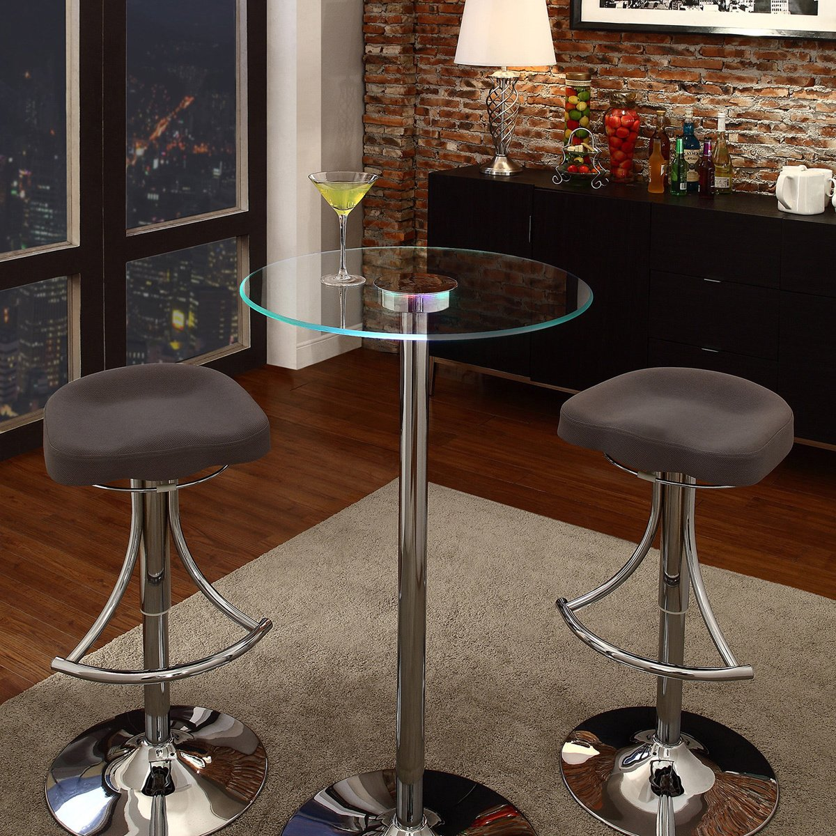 inspire lorin inch bar table led accent free caley counter height shipping today round mats boho coffee black dining chairs clear perspex acrylic tablecloth for square room side