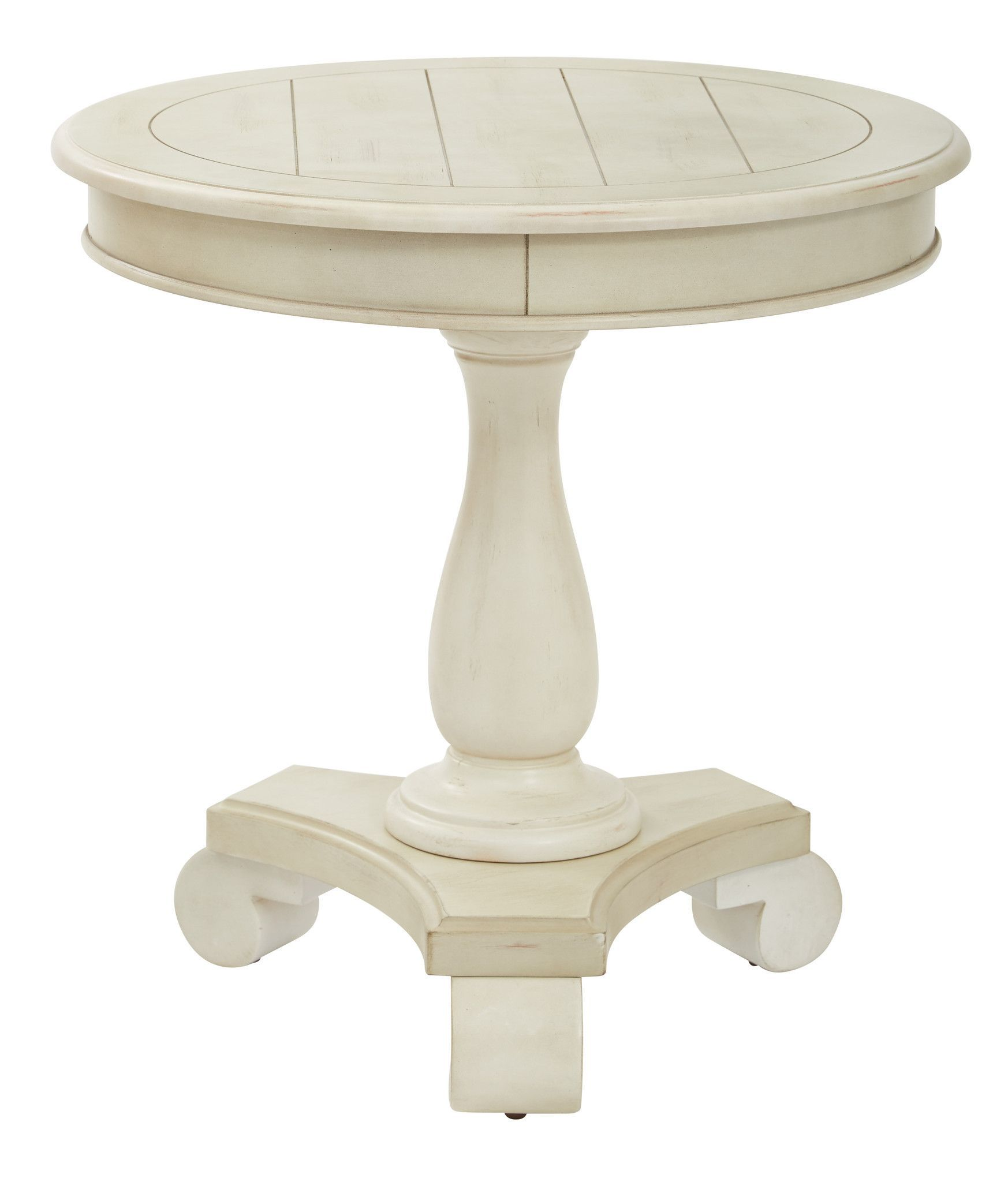 inspired bassett avalon round accent table antique beige oak finish furniture pulls ikea slipcover couch glass coffee with gold legs kitchen lighting square side storage pottery