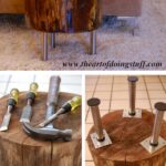 inspiring diy tree stump projects for rustic decor table trunk accent how make side tall mirrored rectangular outdoor umbrellas futon covers kohls hammered metal top coffee white 150x150
