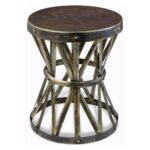inspiring rustic round end table for zemico hand forged hammered side distressed accent target metal coffee yellow umbrella patio parasol tiffany stained glass chandelier old 150x150