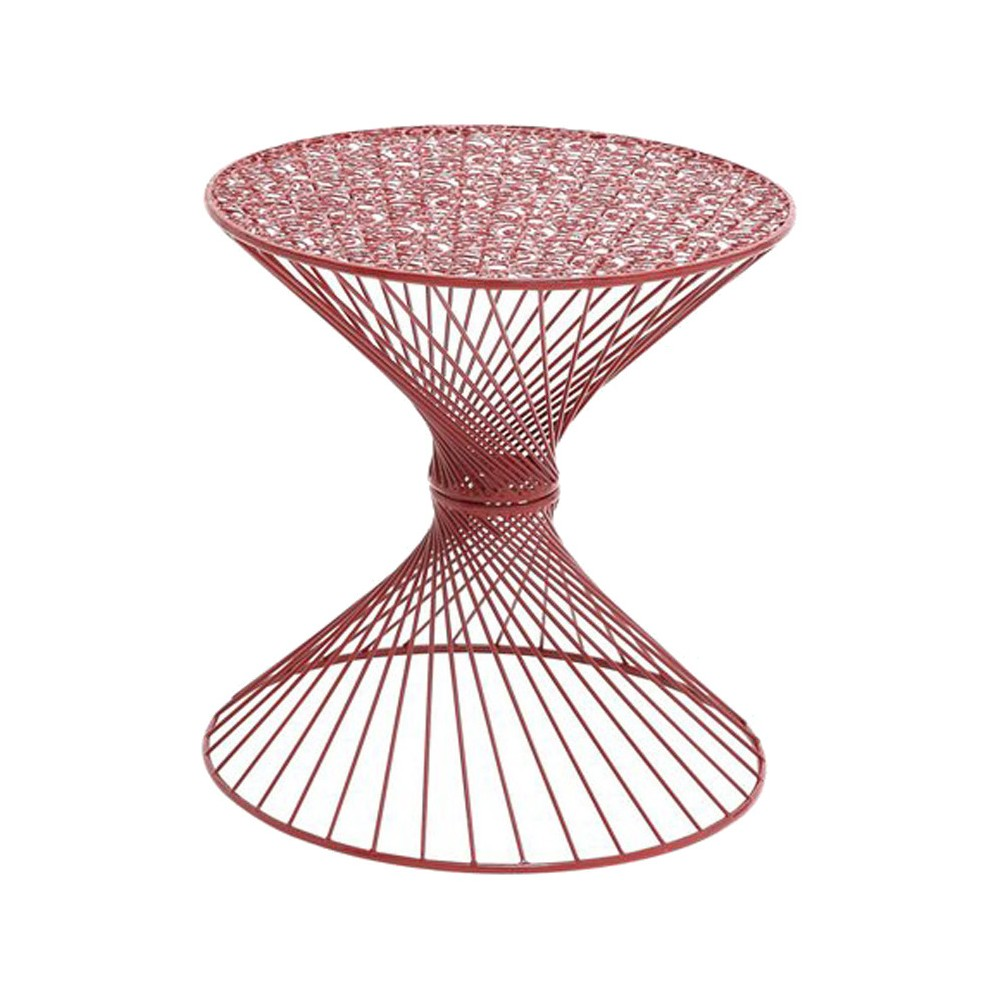 interesting styled metal red accent table products victorian couch large contemporary wall clock glass top side card best placemats for wood cherry console foot round tablecloth