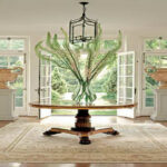 interior round foyer tables luxury pedestal table with elegant entry for decoration furniture accent console side clearance fruit cocktail recipe sliding barn door dining room 150x150