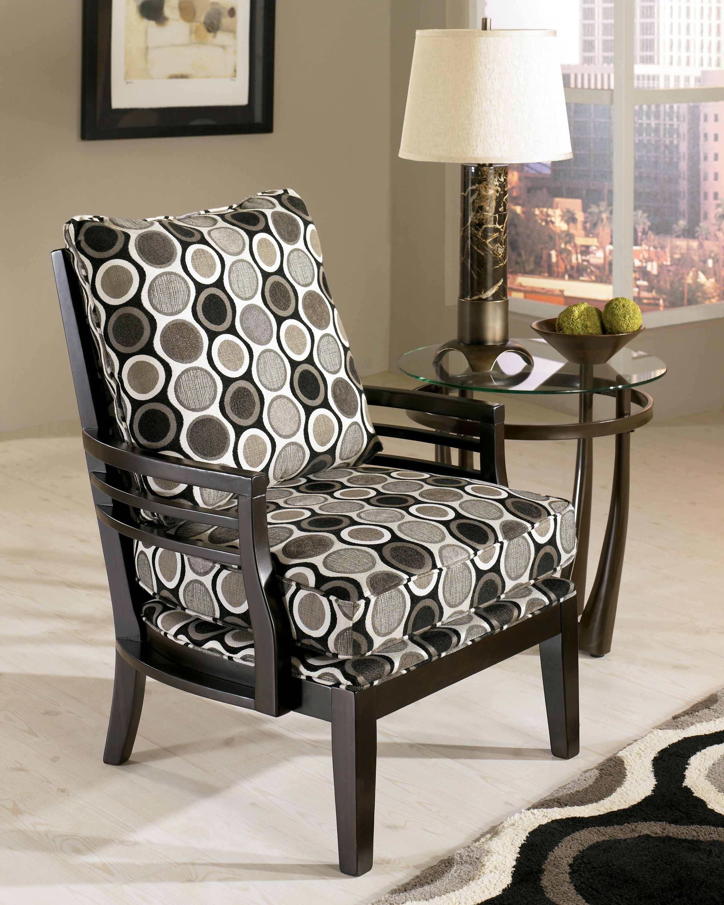 interior round grey white black home accent chair motif matched chairs with table chrome lamp glass attractive for beautiful acrylic nesting tables decorative stands living room