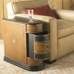 interior round wood and metal end table large with inch oval coffee storage side small tables accent full size woven furniture pier imports outdoor cushions affordable designer 150x150