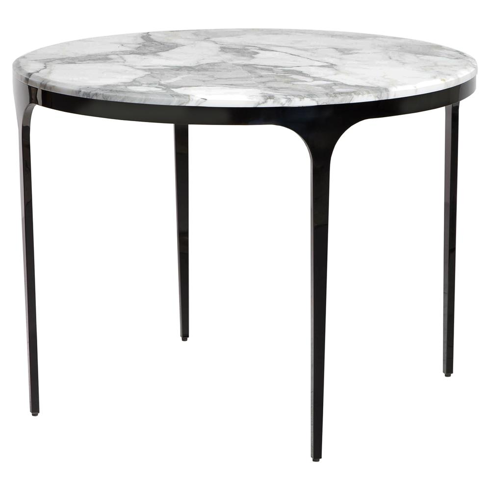 interlude camilla gunmetal white marble round bistro table kathy product accent kuo home wood stump coffee lounge covers target gold decor bedside pier one console red patio