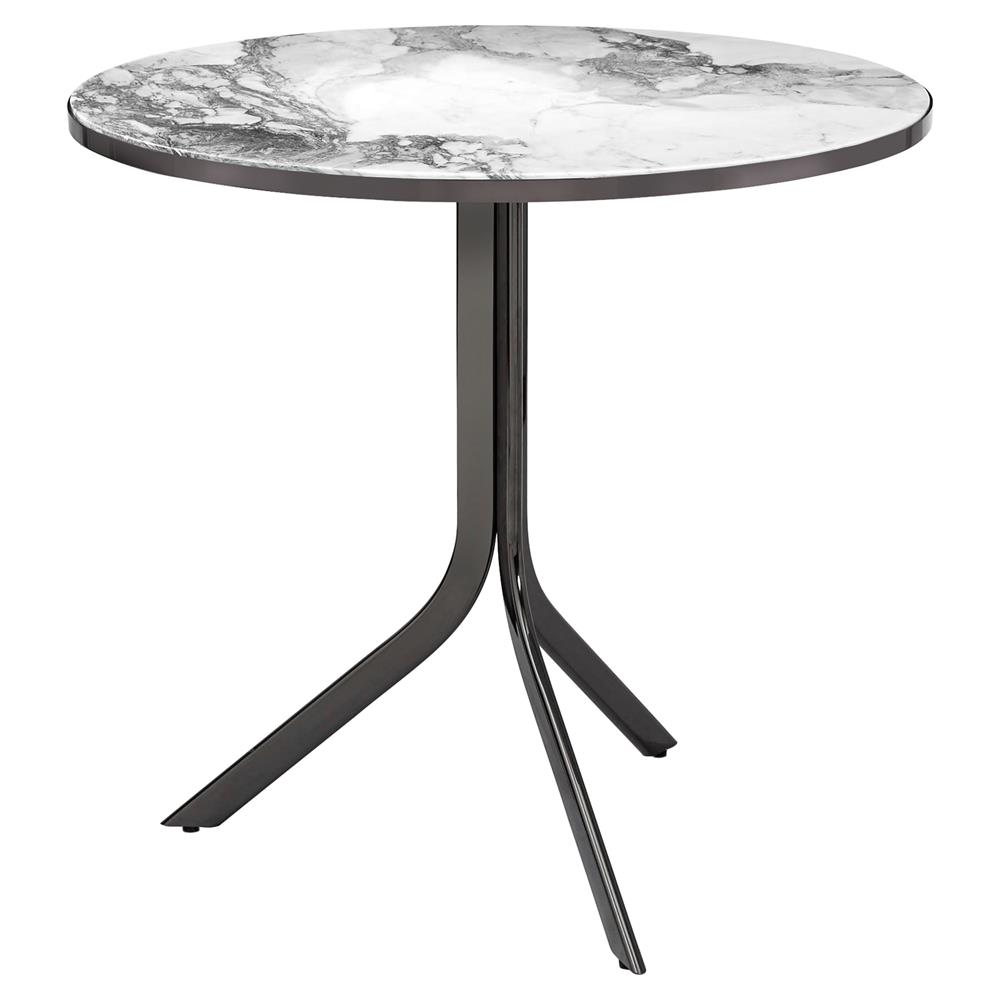 interlude carina modern gunmetal grey marble folding bistro table product accent kathy kuo home round bedside covers small decorative lamps target makeup vanity living room