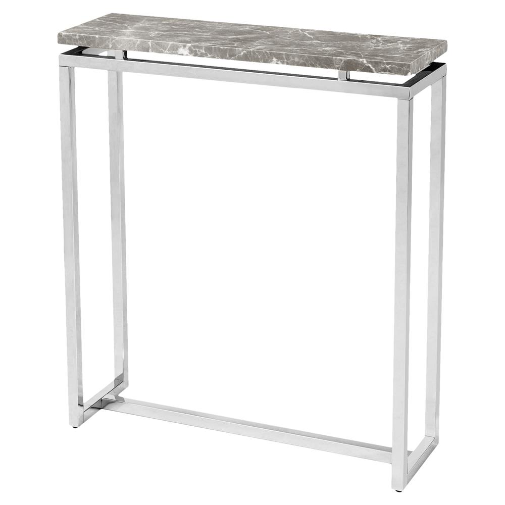 interlude harper regency silver grey marble console table product small top accent kathy kuo home bedroom decor ideas resin wicker outdoor furniture tiffany style butterfly lamp