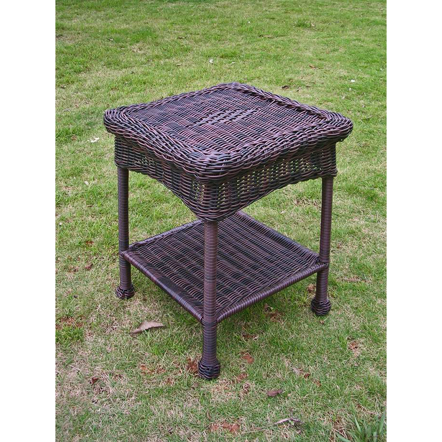 international caravan pvc resin and steel outdoor side table wicker antique pecan bar furniture contemporary dining large covers height legs wood armchairs for small spaces narrow