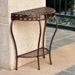 international caravan santa outdoor half moon patio console table metal accent tables ashley furniture rustic end nautical hanging lamps sofa drink storage cabinets with doors and 150x150