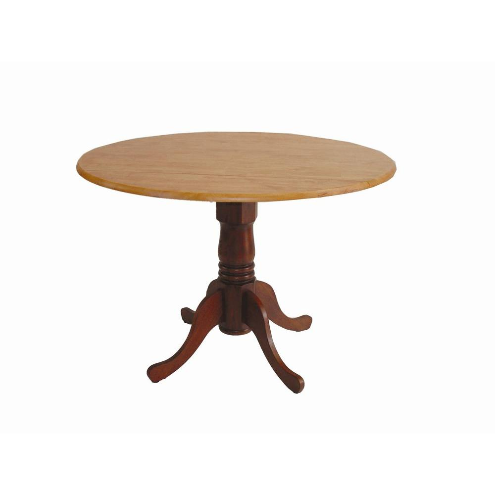 international concepts cinnamon and espresso drop leaf dining table kitchen tables small accent the brown tablecloth pottery barn farmhouse coffee metal drum storage ethan allen