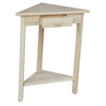 international concepts corner accent table ready finish room essentials instructions blue and white placemats outside storage box large trestle dining better homes gardens patio 150x150