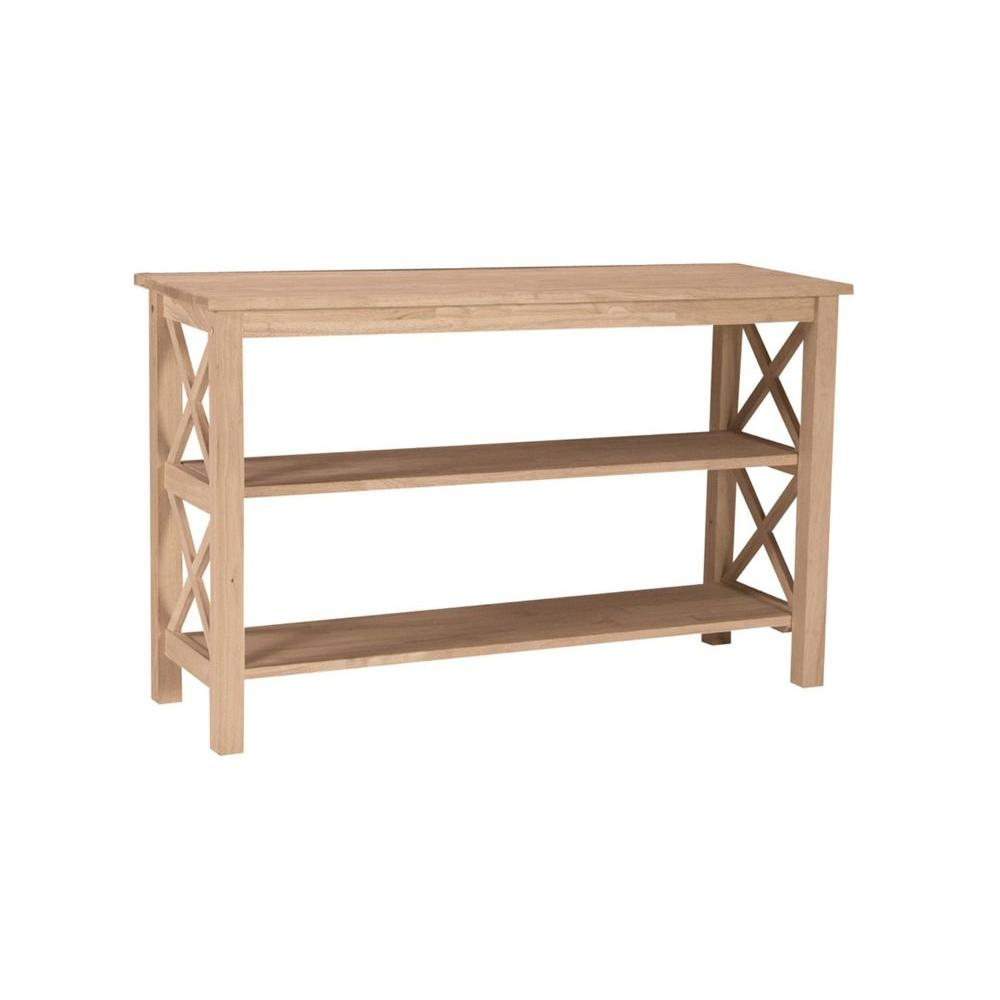international concepts hampton unfinished console table the tables solid oak accent white trestle unique coffee designs retro desk monarch specialities barn style small furniture