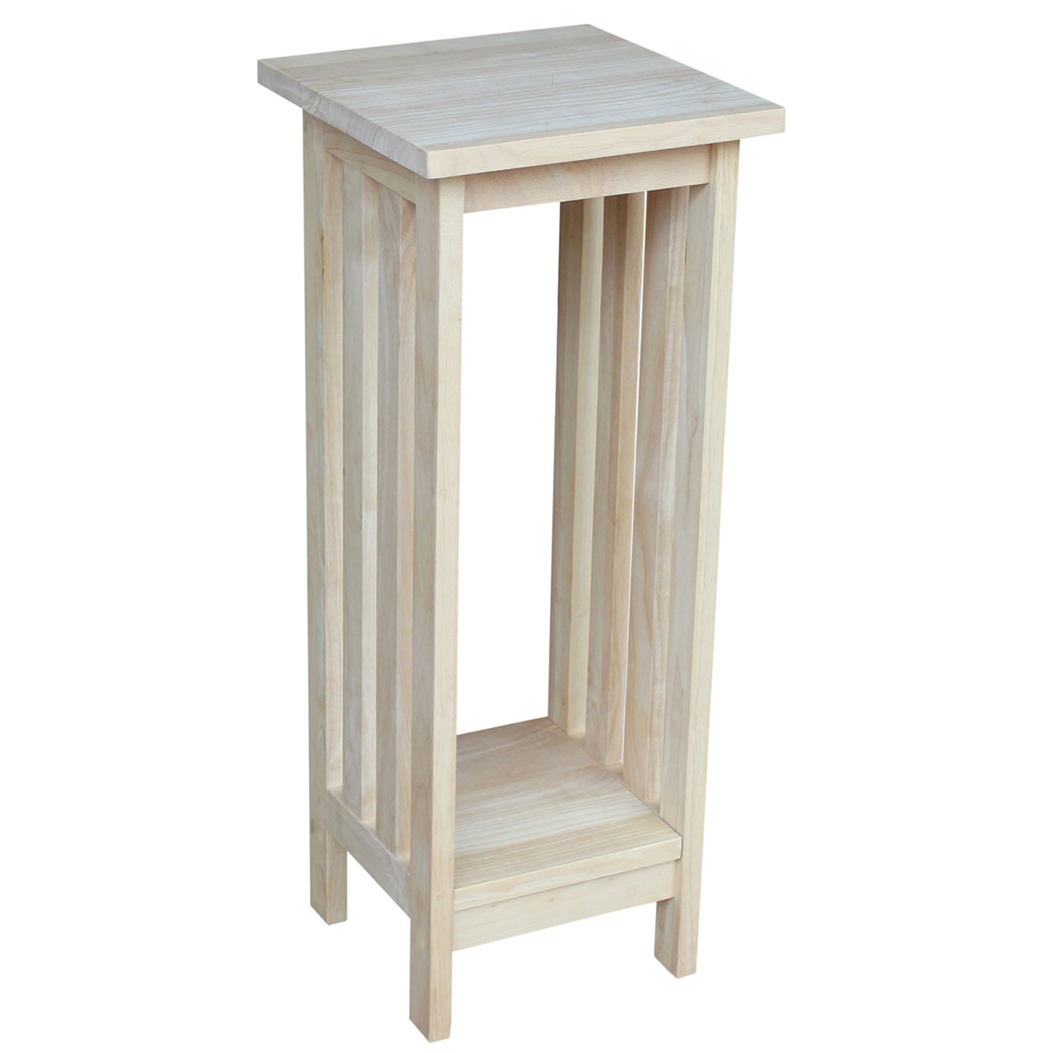 international concepts mission unfinished inch wood plant stand patio umbrella accent table hover zoom small metal legs outdoor dining chairs bunnings distressed blue coffee end