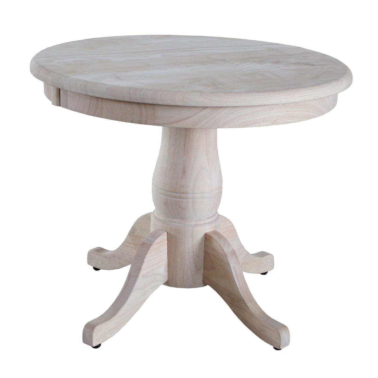 international concepts round pedestal table inch unfinished wood accent tables placemats kitchen and chairs bohemian coffee behind couch dining room office lighting outdoor
