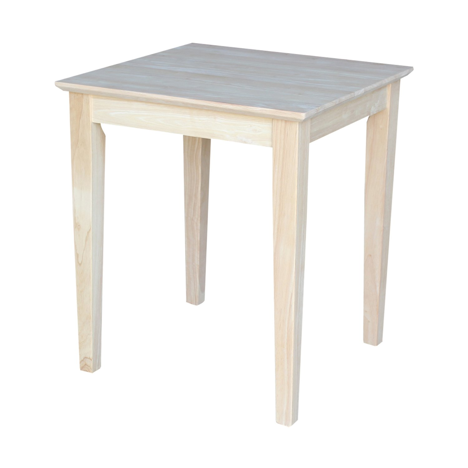 international concepts tall shaker end table mnjl unfinished wood accent kitchen dining white set round placemats outdoor chair small rectangular patio large drop leaf metal bar