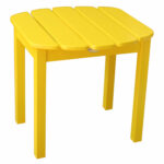 international concepts yellow outdoor adirondack side table accent hover zoom small patio with chairs lounge gold glass top coffee porch furniture target desks and industrial look 150x150