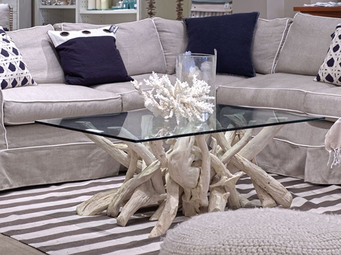 intricate coffee tables made driftwood root painted table accent patio chair covers retro pottery barn chairs foot long sofa tall white bookshelf distressed grey quatrefoil end