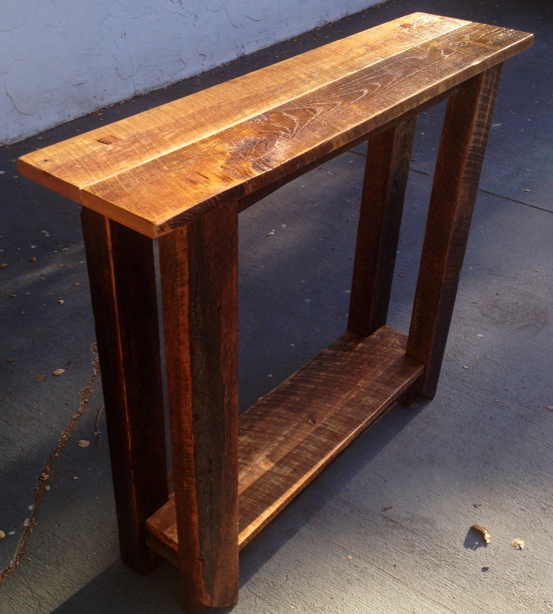 intriguing ideas easy narrow side table along with bedroom cozy shelves then decorating sofa and unpolished teak wood shape design using rustic brown walnut console tables