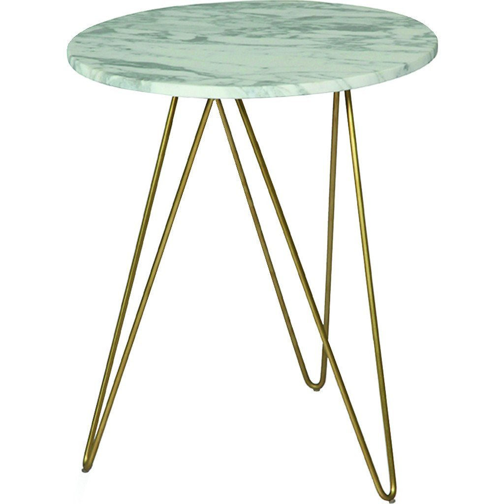 ion design solo accent table white marble sportique soloaccenttable emerald green sofa small bedside lamp shades wood trestle dining round side cloth uttermost laton mirrored