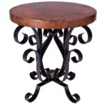 iron scroll accent table base end only twi larger custom coffee tables wood outdoor nic piece patio dining sets clearance lucite with shelf kenroy home rustic looking cast 150x150