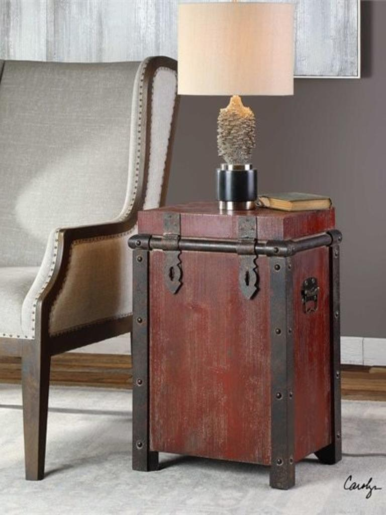 isaac accent table wine red bonaire coastal living uttermost metal glass top side rattan dorm room ideas cupboards for foot round tablecloth antique wood coffee tables oriental