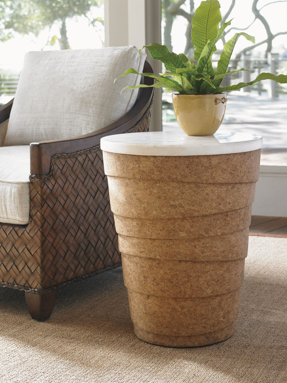 island fusion kendari round accent table lexington home brands wood small entryway cabinet living room lamp shades patio loveseat cover sliding door ideas ethan allen furniture
