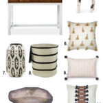 items you need from the nate berkus target line blissful nateburkustargetline glass agate accent table black white classic rug stackable tables rattan antique living room 150x150