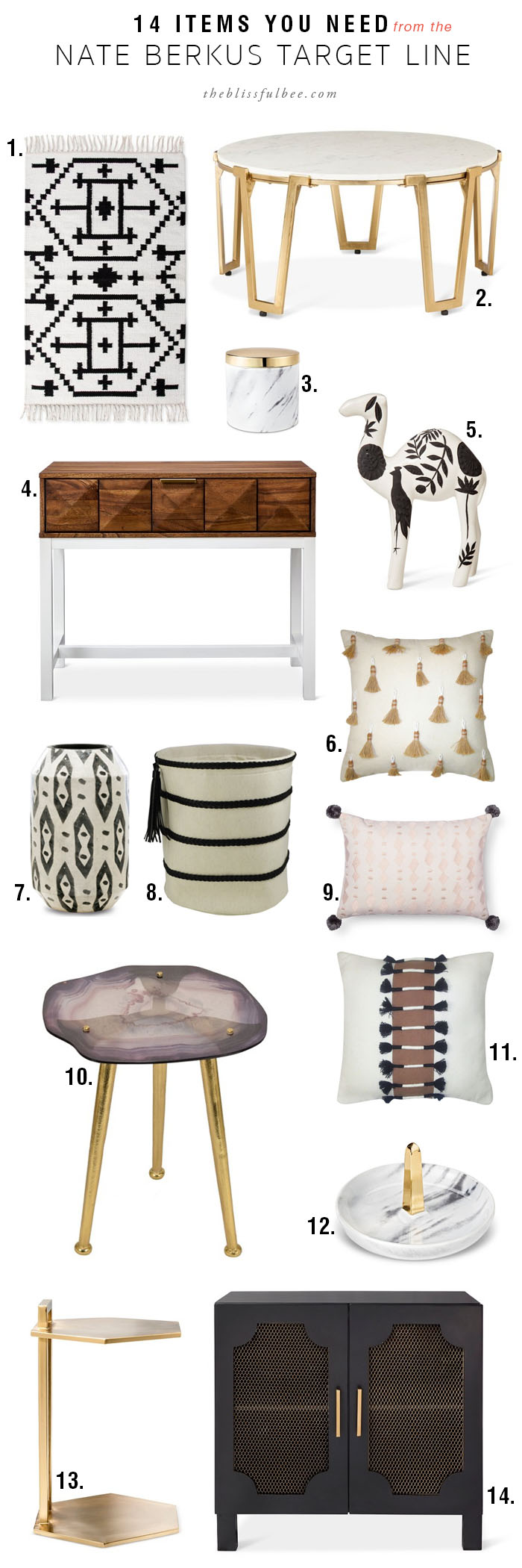 items you need from the nate berkus target line blissful nateburkustargetline glass agate accent table black white classic rug stackable tables rattan antique living room