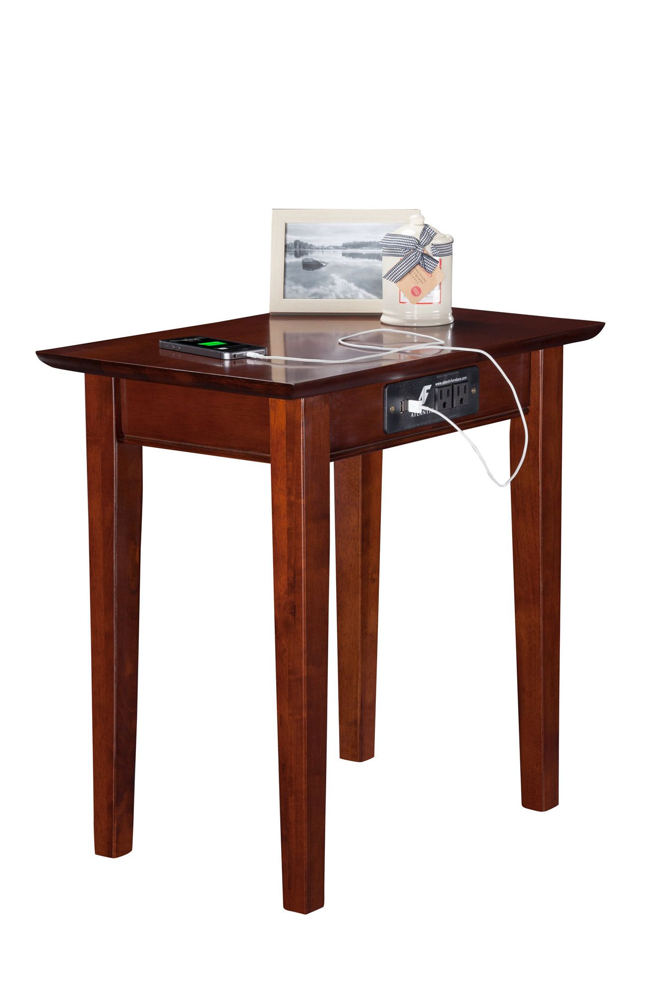 ithaca end table products accent tables with charging station farmhouse coffee set oak plans glass stacking wooden side designs vintage french bedside gold mirror decorative