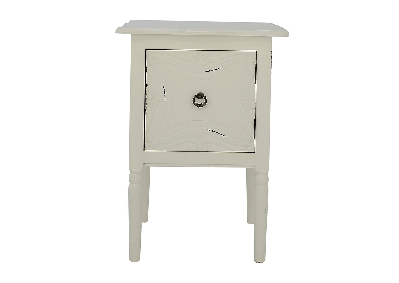 ivan smith carson white accent table imports llc resin patio end target serving trays plastic tables pottery barn swivel chair metal rustic threshold nightstand small decorative