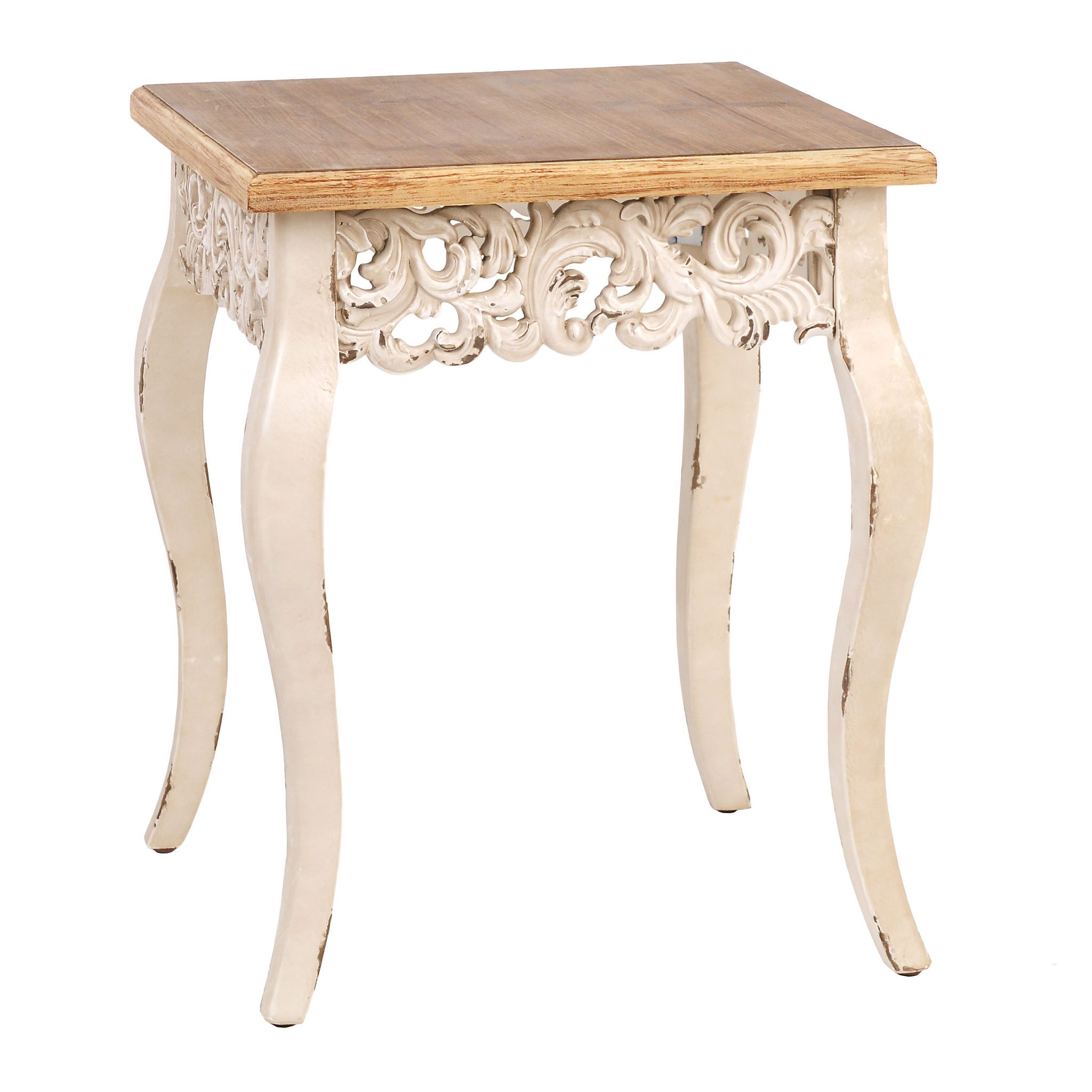 ivory baroque accent table home sweet antique white kirklands rustic tablecloth black and cream rug bar height patio lucite glass coffee end unfinished console round outdoor top