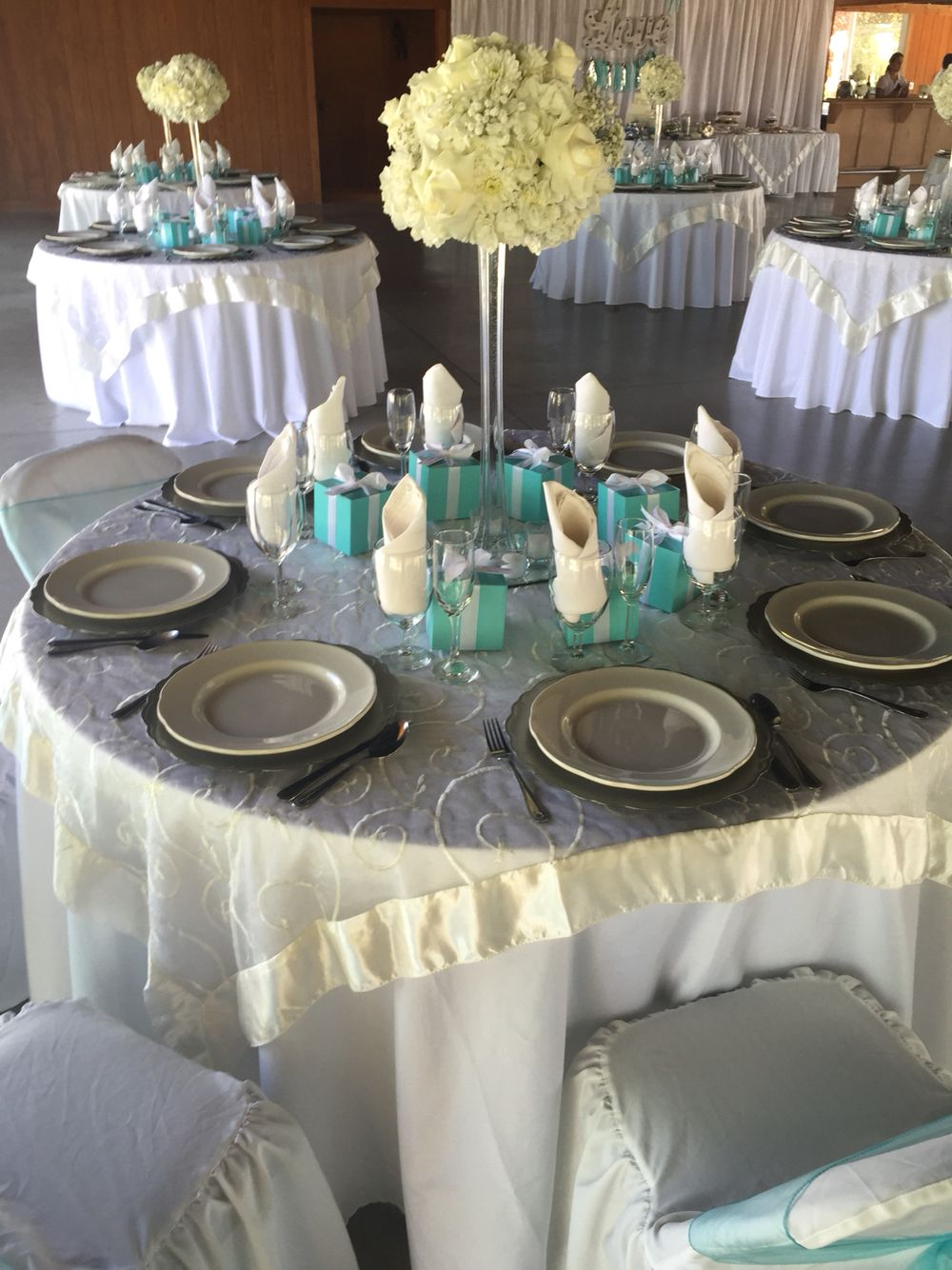 ivory table cloth with organza swirl overlay tiffany accent linens blue coffee mat outdoor patio stools aluminum side cool desk lamps half circle hall threshold teal round antique