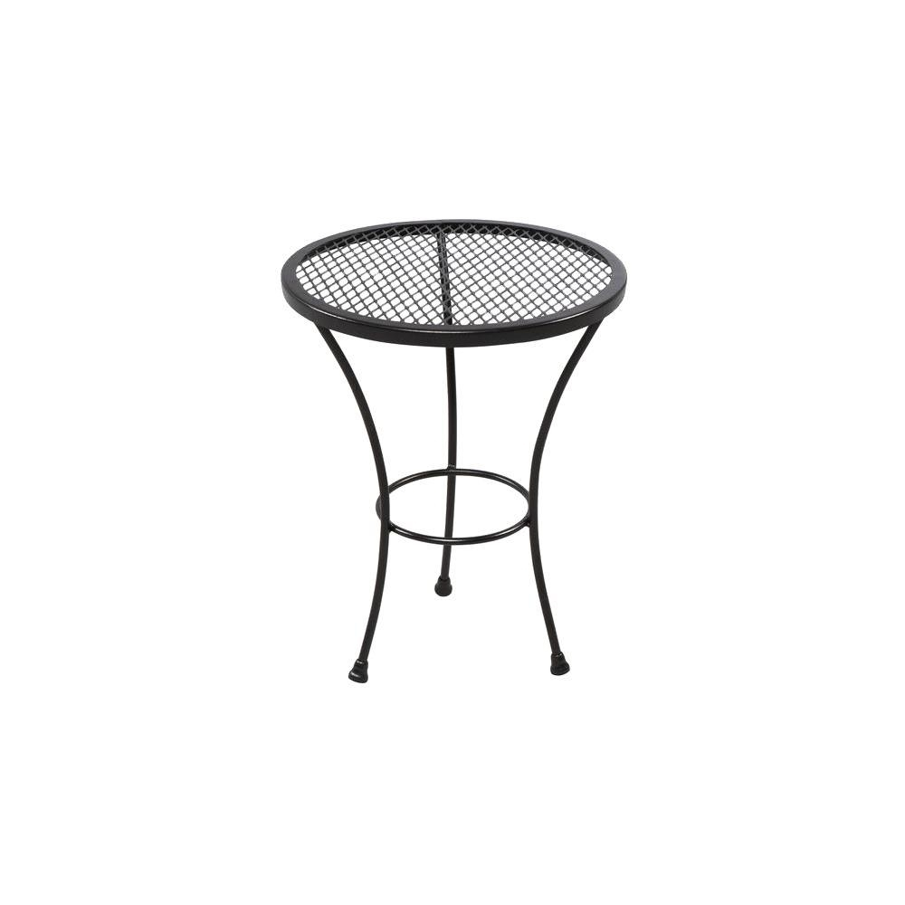jackson patio accent table wrought iron frame protected weather for amazing tables the top reference foot console contemporary floor lamp with attached feature black marble long