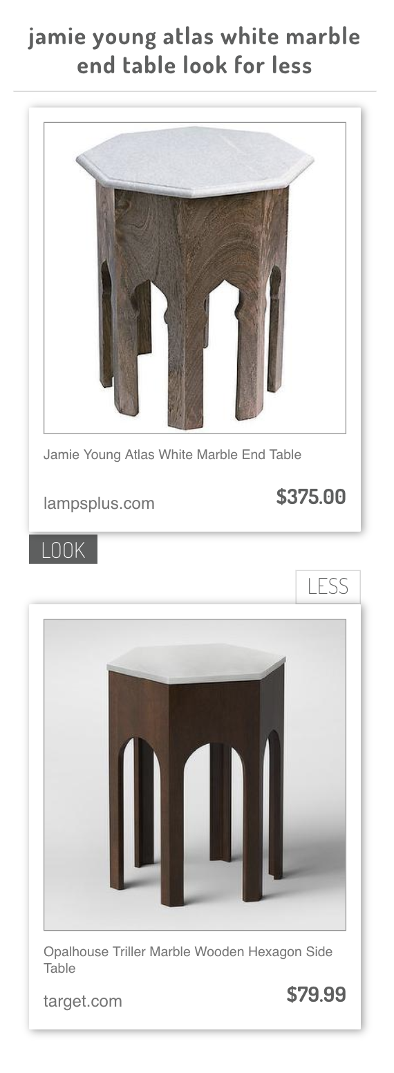 jamie young atlas white marble end table opalhouse triller accent target wooden hexagon side coffee with wood and metal bedroom chest tables vintage tier sage green bedside drop