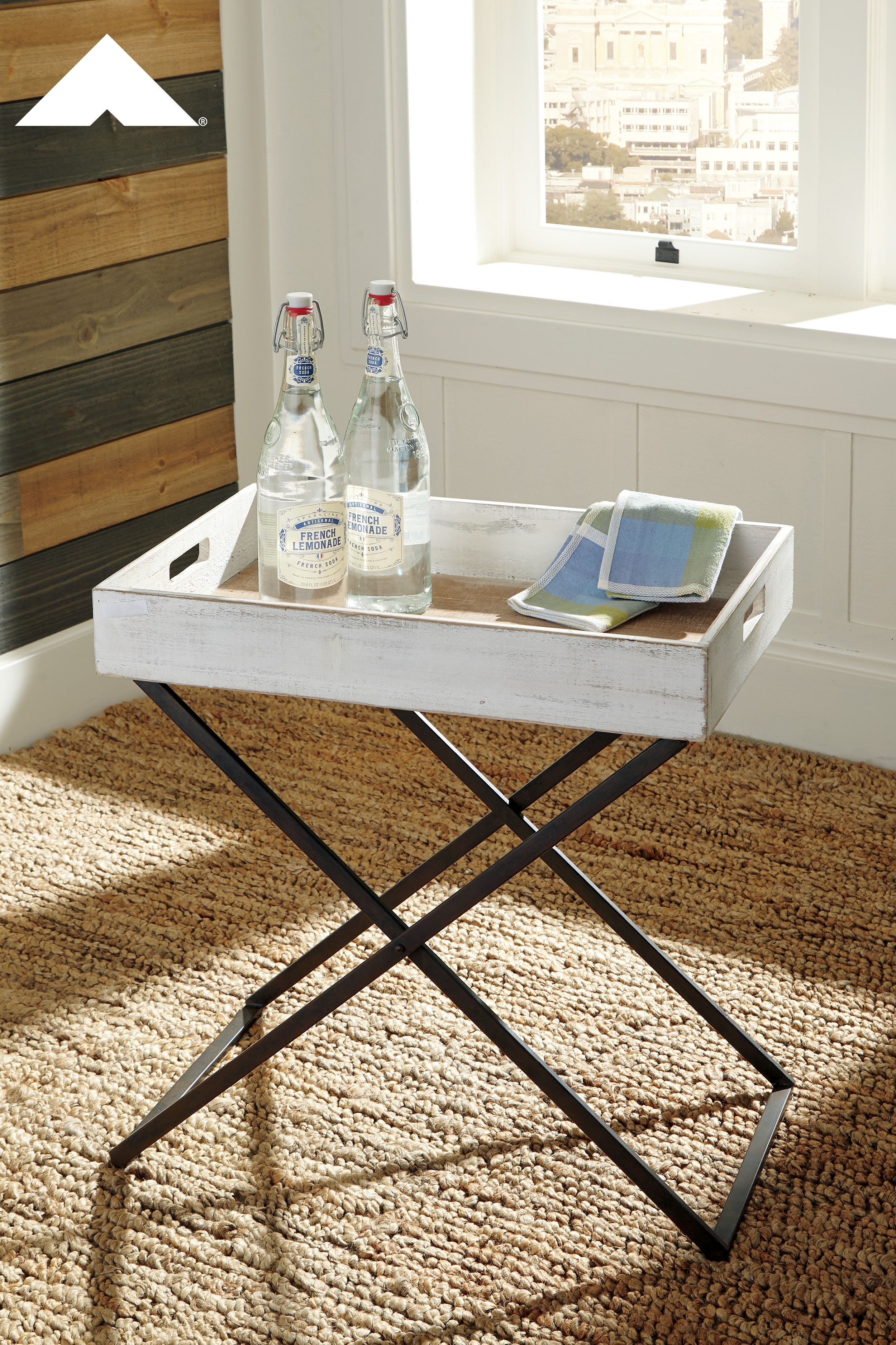 janfield summertime accent table ashley furniture tables ashleyfurniture homedecor homedecorideas small white round bedside inexpensive end for living room champagne cooler dale