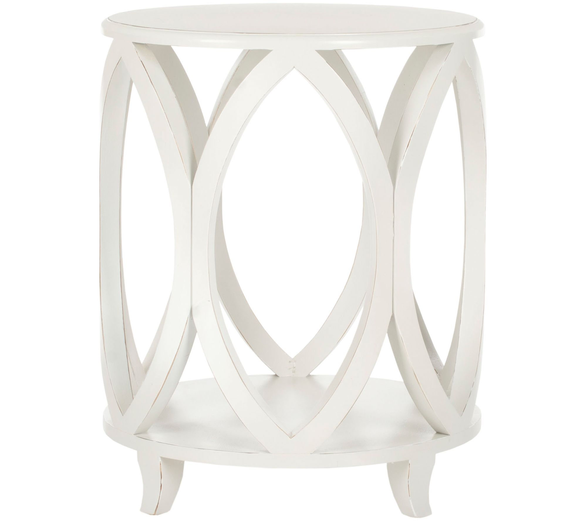 janika round accent table valerie qvc target crib bedding small side with storage occasional drawer pottery barn wall desk tall hallway cabinet faux marble bedside planters
