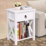 jaxpety white finish design side end table night stand storage kenzie accent shelf with bin half round top antique telephone square nesting tables drawer dishwasher patio chair 150x150