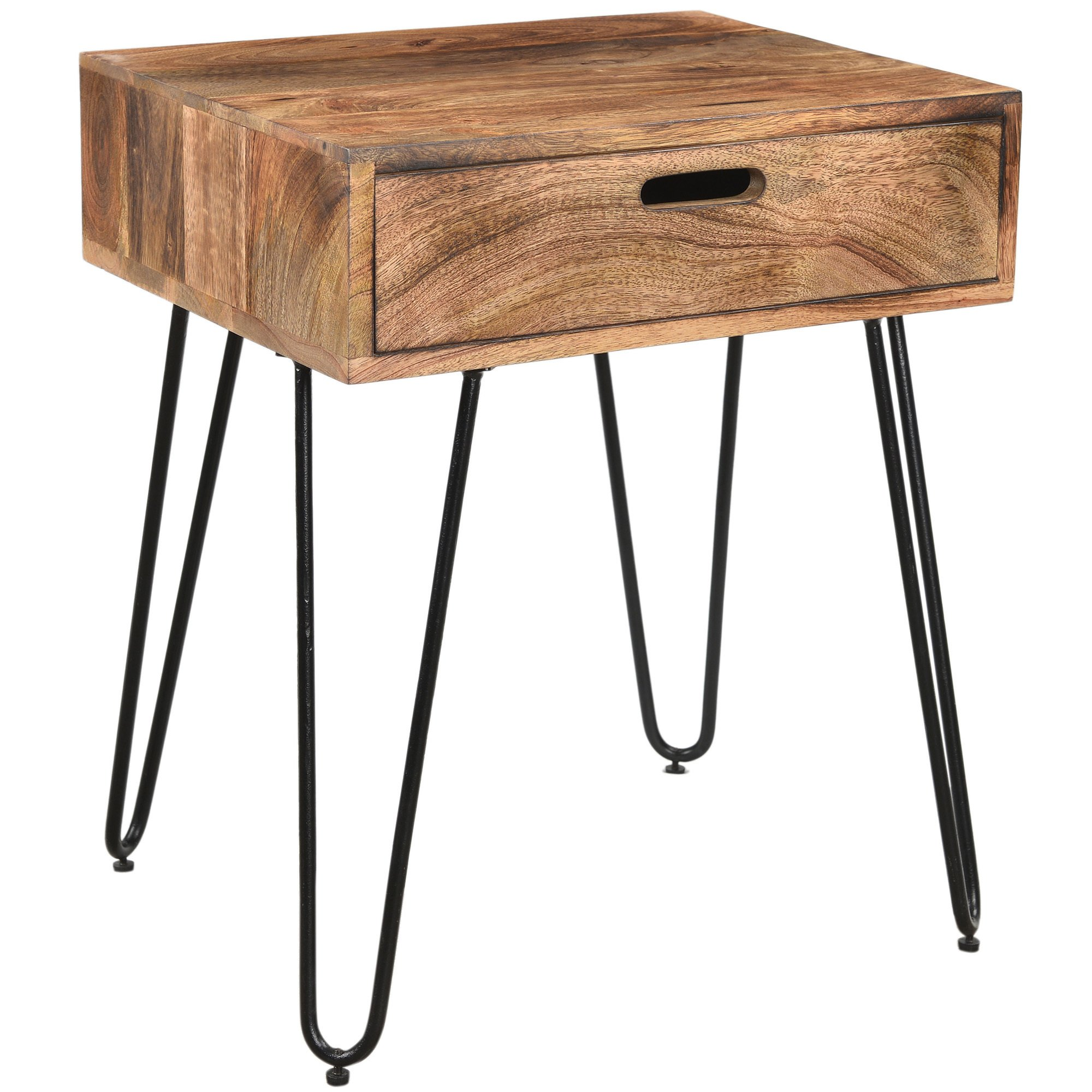 jaydo natural burnt solid mango wood black iron accent table room essentials hairpin yellow end knotty pine bookcase easy christmas runner patterns free farm style coffee seating