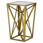 jaye angular mirror accent table gold bright products mirrored glass narrow nightstand with drawers round marble top bistro the outdoor furniture counter height dining room sets 150x150