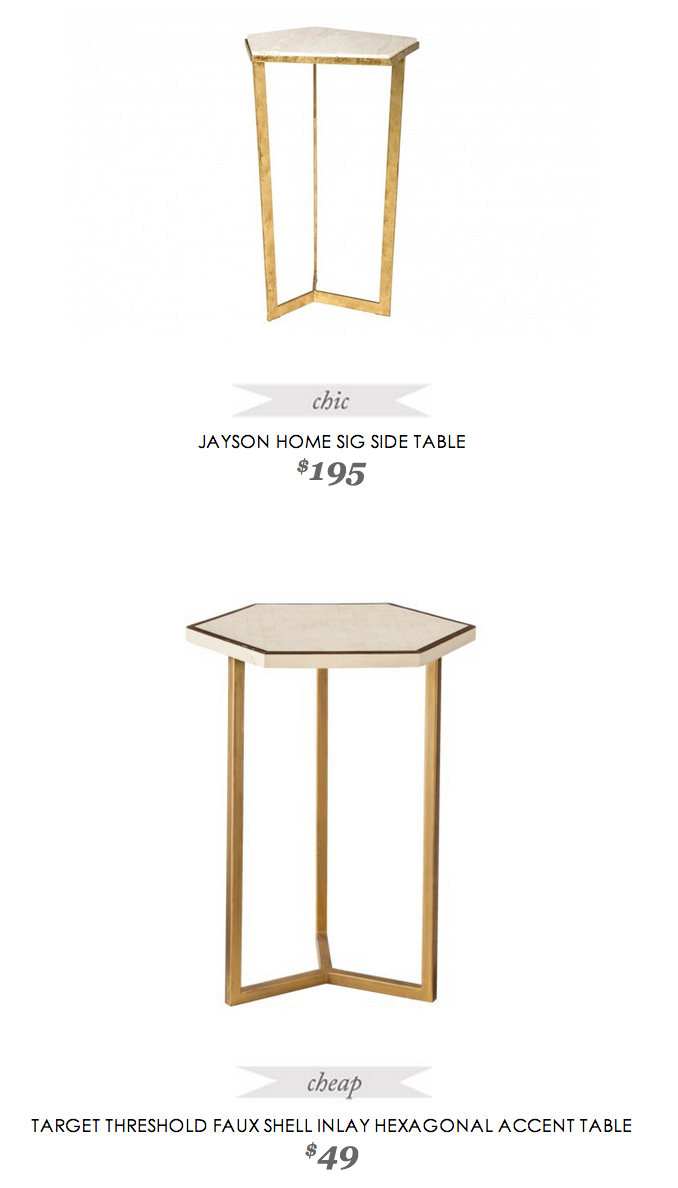 jayson home sig side table target threshold hexagon accent copycatchicfind jaysonhome sidetable faux shell inlay hexagonal accenttable behind couch with stools west elm metro