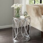 jcpenney end tables the terrific drum style madison park coen metal eyelet accent table free shipping today oak with drawers nice coffee marshalls home goods rugs brass phone 150x150