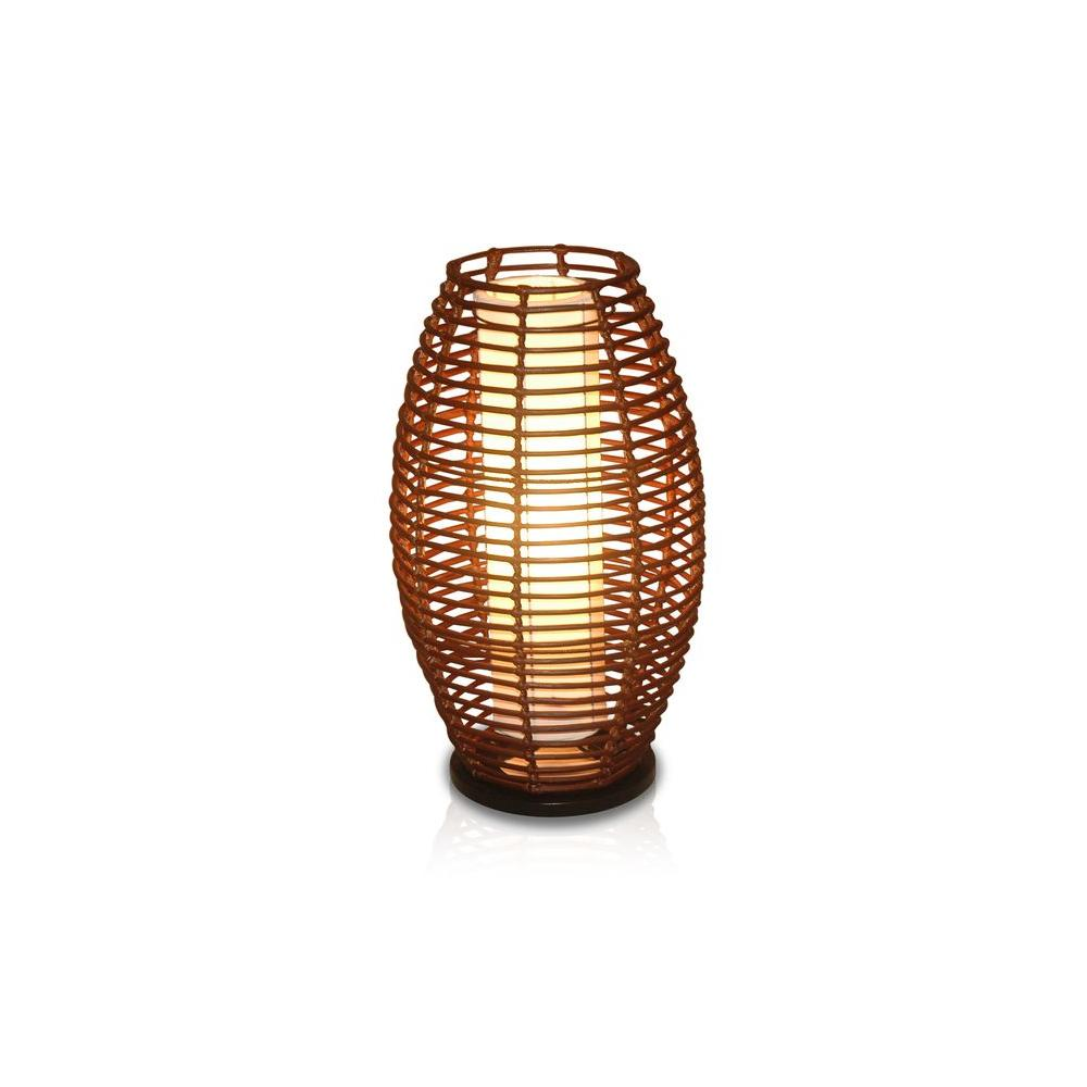 jeffan dark espresso elliptical shape table lamp with brown lamps brnat accent lighting natural rattan weave small black telephone tiffany style shades wrought iron patio dining
