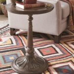 jefferson market rustic round accent table magnussen home dunk bright furniture products color metal end tables coffee linen garden dressing lamp antique marble cool bar cooler 150x150