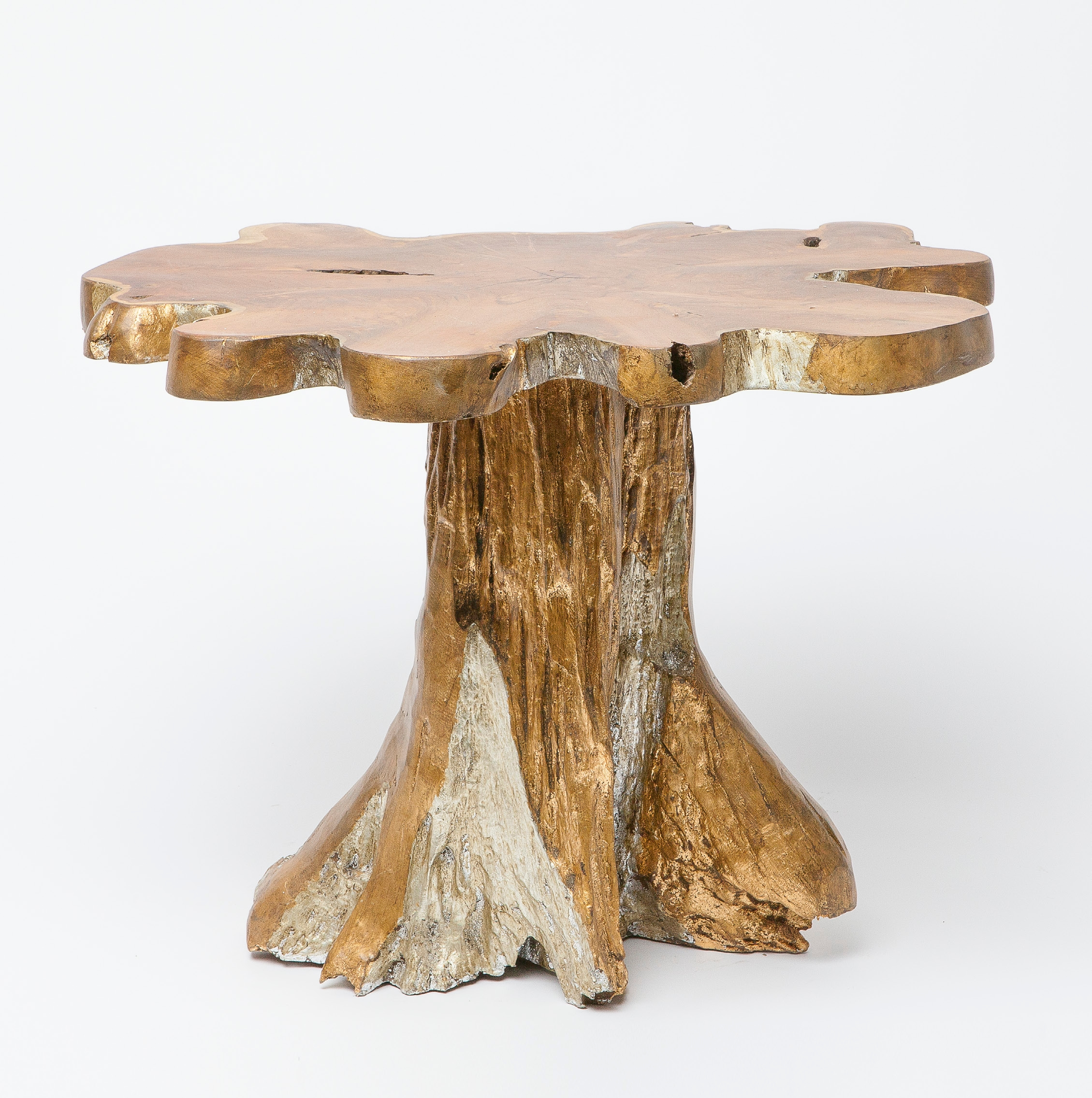 jessa teak root side table mecox gardens fnst tree trunk accent patio dining clearance reclaimed trestle sauder harbor view bedroom chairs yellow home decor french antique