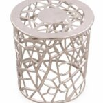 jewel round metal accent table silver ornamental filigree pattern bronze side small white desk with drawers house interior design ideas furniture legs kitchen sets for garden 150x150