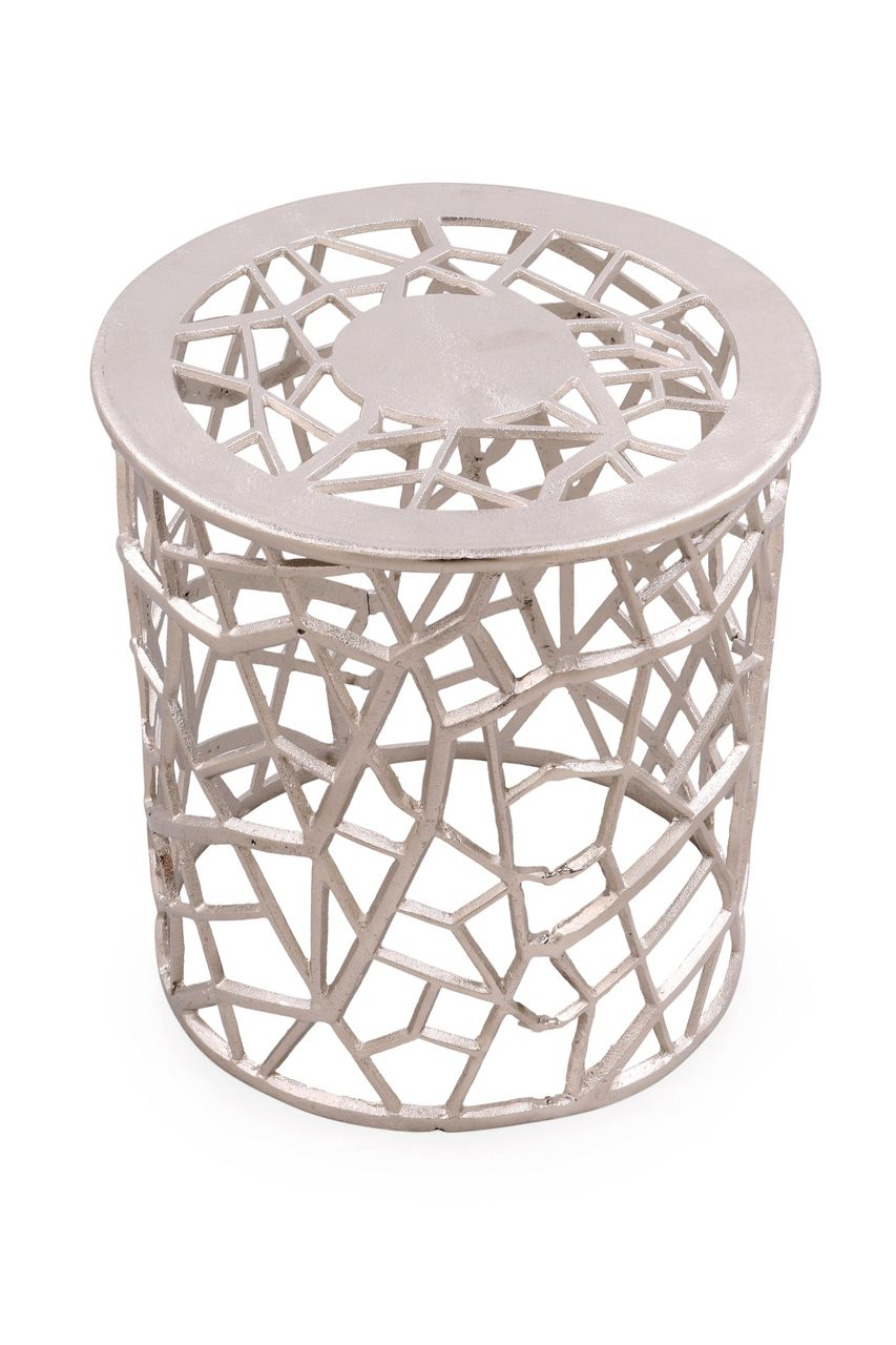 jewel round metal accent table silver ornamental filigree pattern bronze side small white desk with drawers house interior design ideas furniture legs kitchen sets for garden